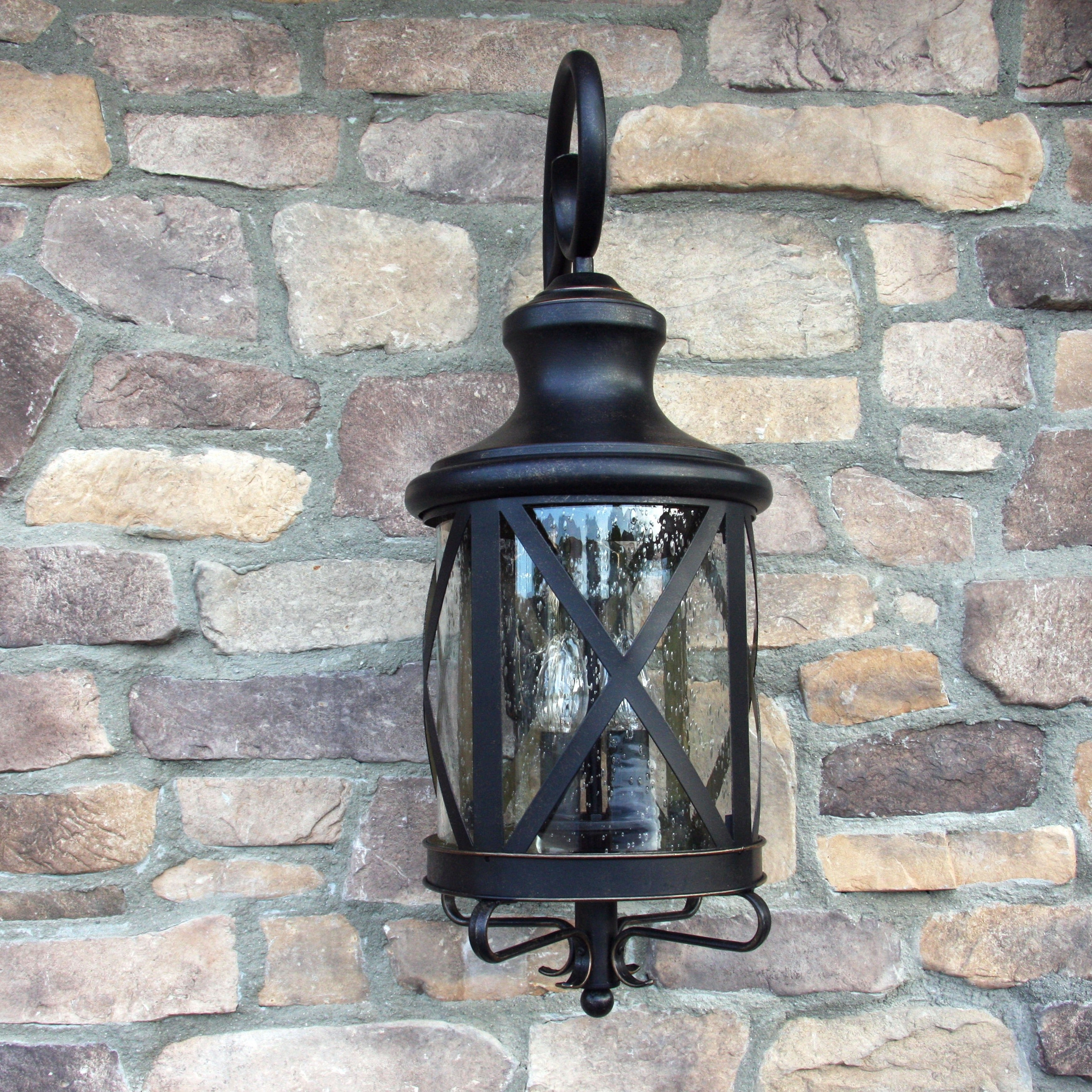 Oil Rubbed Metal Wall Decor With Regard To Fashionable Shop Y Decor Taysom 3 Light Exterior Light In Oil Rubbed Bronze (View 14 of 20)