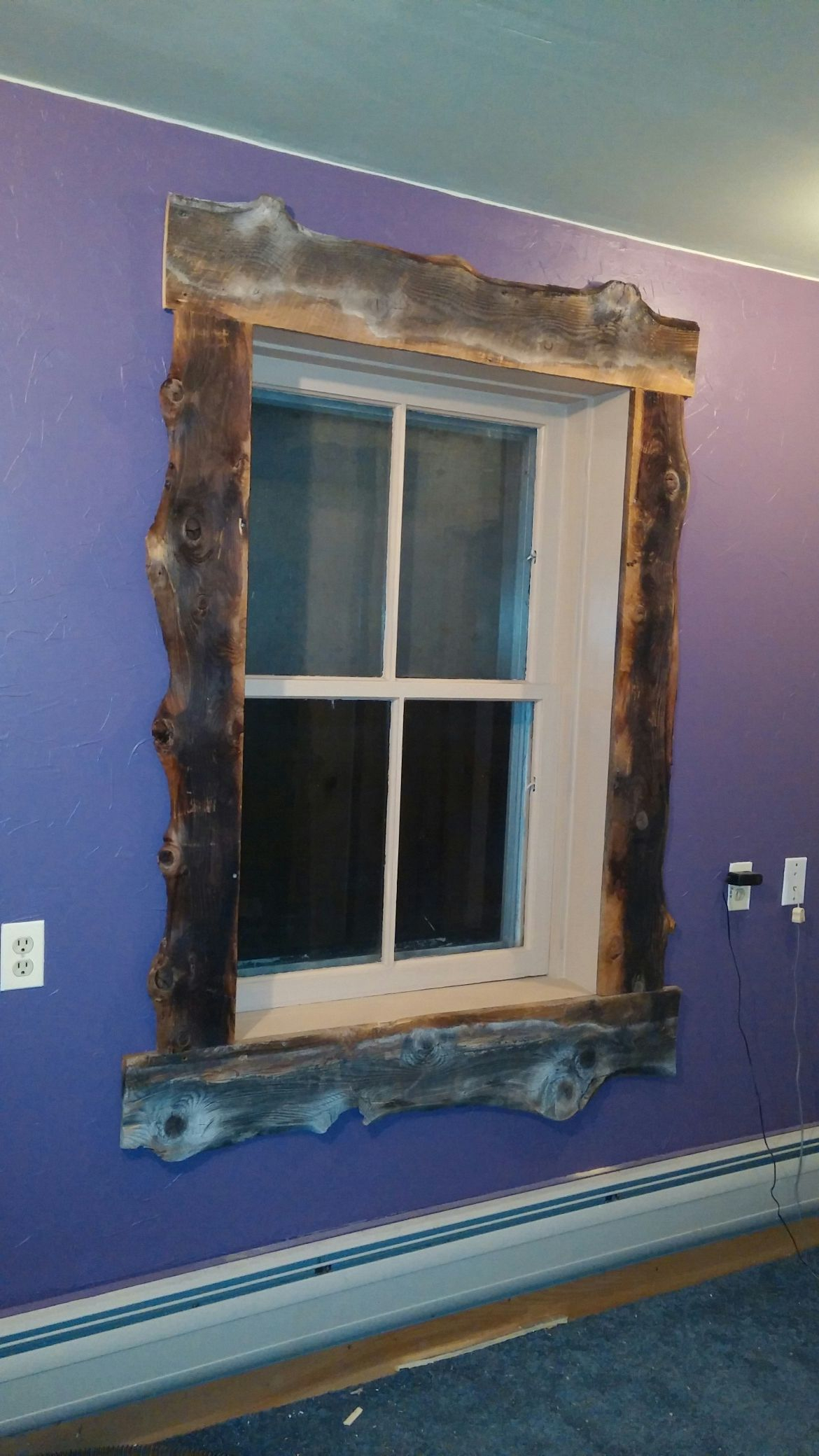 Old Rustic Barn Window Frame Intended For Best And Newest Trimmed Out The Window With Old Slab Barnwood (View 10 of 20)