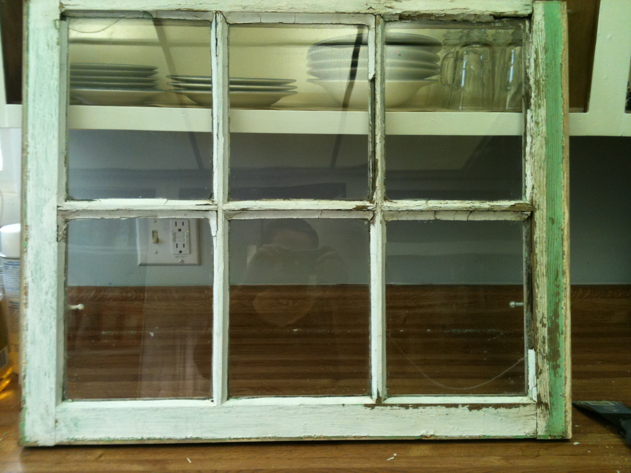 Old Stuff Wood Window Pane To Distressed Picture Frame – My Three C's In Widely Used Old Rustic Barn Window Frame (View 11 of 20)
