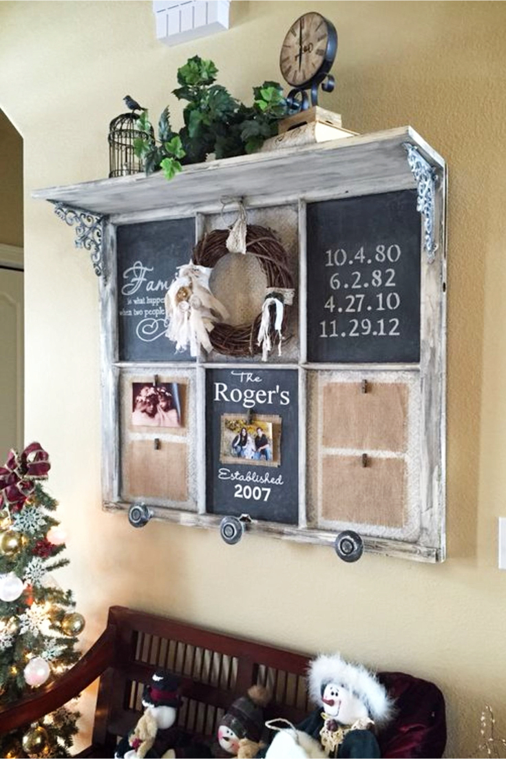 Old Window Frames Diy Ideas And Window Frame Crafts - Involvery for Favorite Old Rustic Barn Window Frame