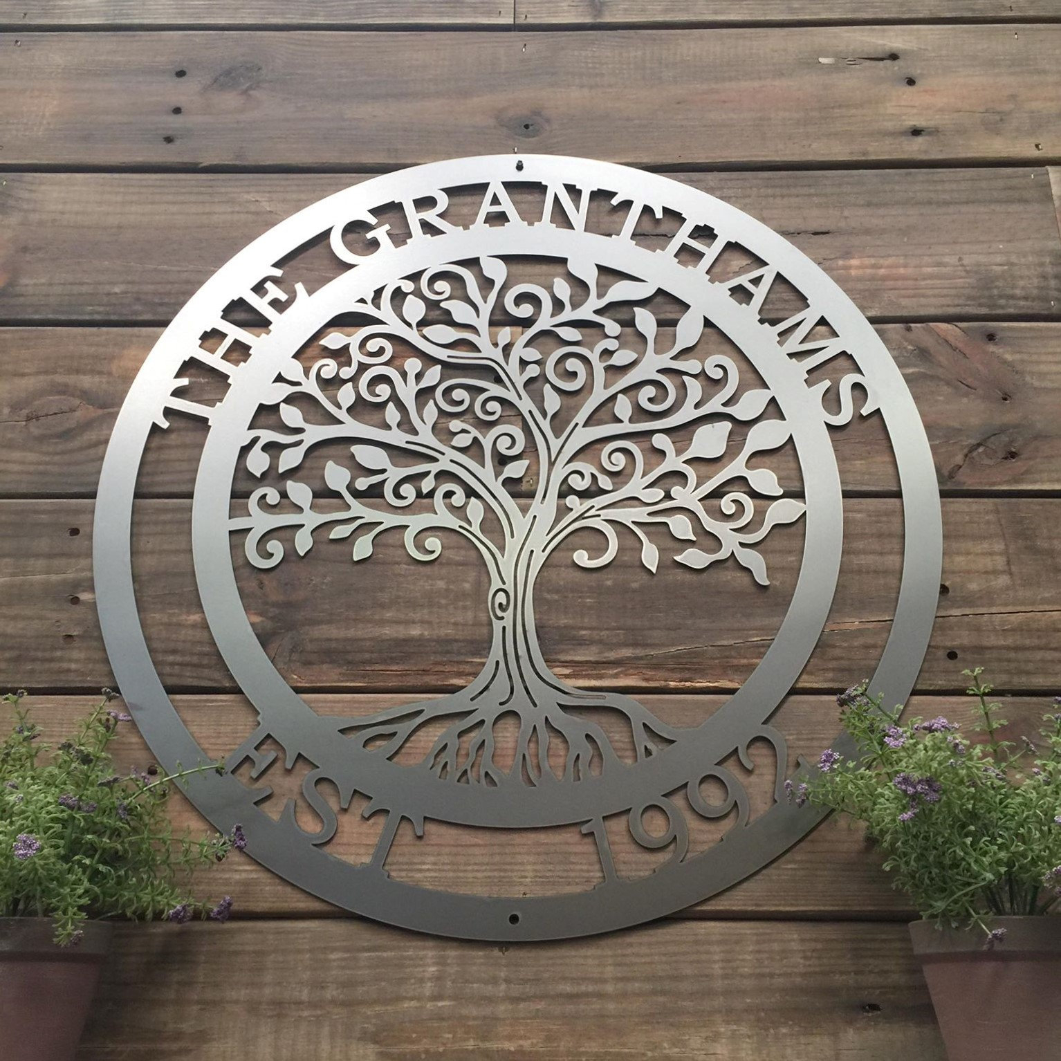 Olive/gray Metal Wall Decor Regarding Newest Loving Tree Of Life Wall Art (View 9 of 20)