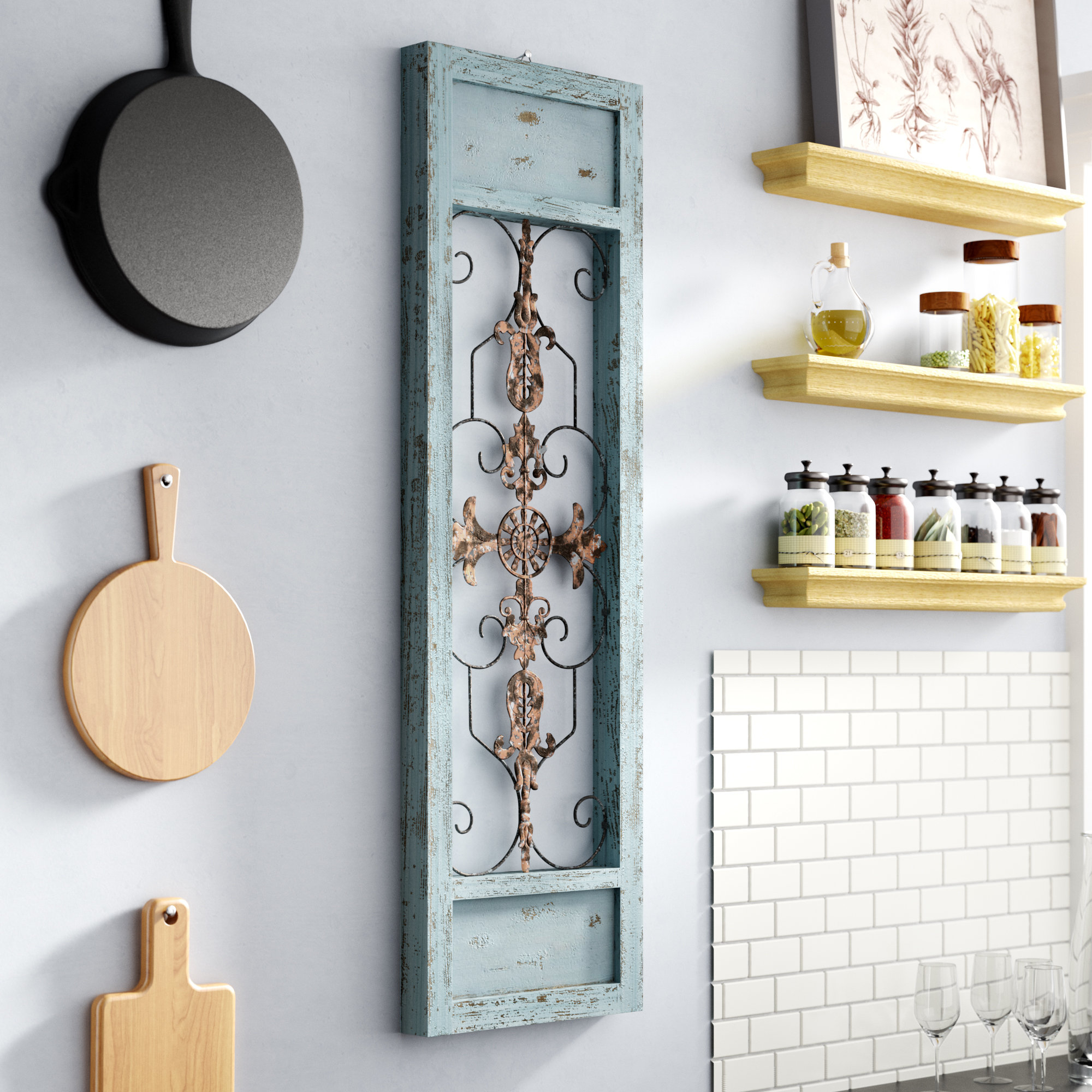 Ornamental Wood And Metal Scroll Wall Decor For 2020 Lark Manor Ornamental Wood And Metal Scroll Wall Décor & Reviews (View 11 of 20)