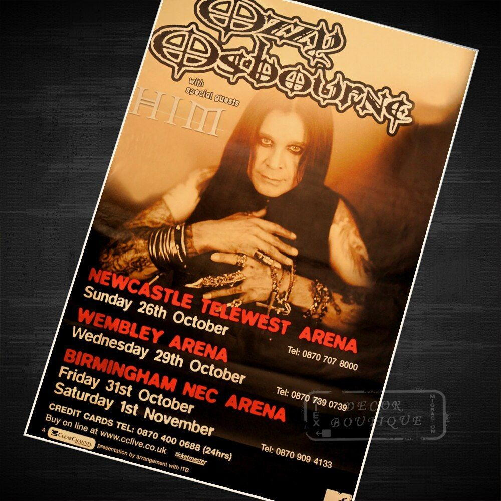 Osbourne Wall Decor Throughout Current Ozzy Osbourne Music Class Propaganda Vintage Kraft Decorative Poster (View 10 of 20)