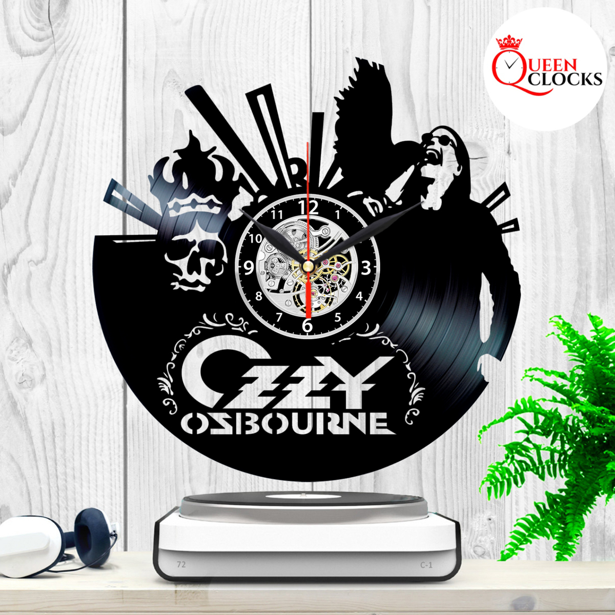 Osbourne Wall Decor With Most Popular Ozzy Osbourne Music Vinyl Record Wall Clock Unique Gift Ideas Home (View 7 of 20)