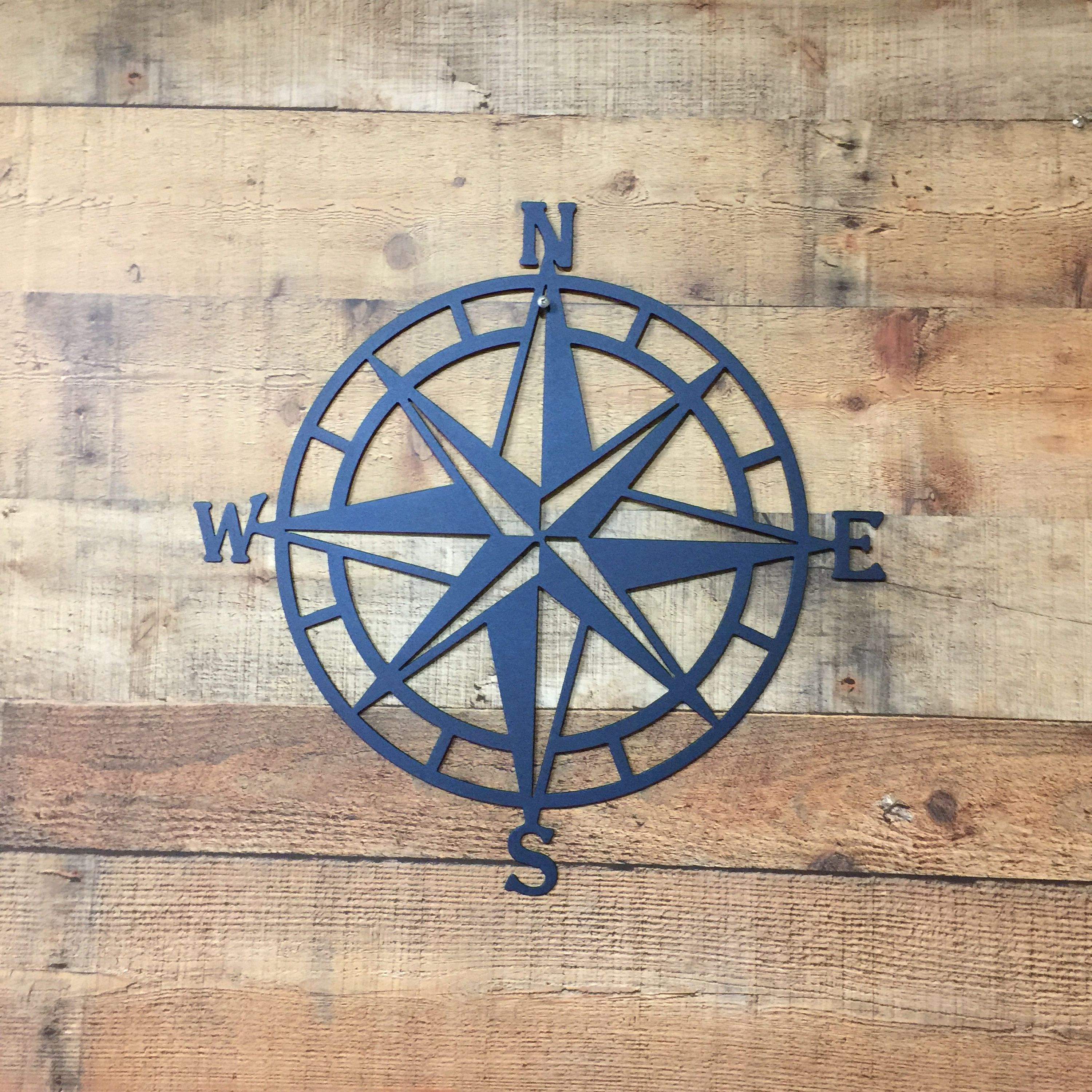 Outdoor Metal Wall Compass With Regard To 2019 Compass Rose Metal Wall Art Nautical Compass Nautical Wall (View 15 of 20)