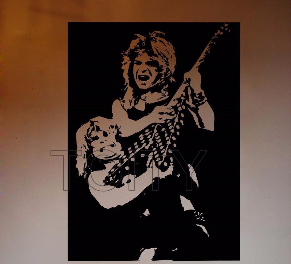 Ozzy Osbourne And Randy Rhoads Wall Sticker Metal Music Vinyl Decal Inside Most Recent Osbourne Wall Decor (View 13 of 20)