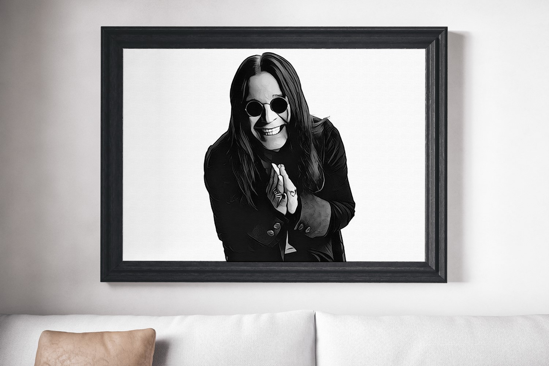 Ozzy Osbourne Black Sabath Canvas Print Music Poster Wall Art The Inside Popular Osbourne Wall Decor (View 14 of 20)