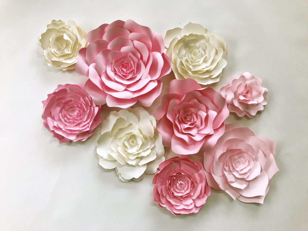 Paper Flower Walls, Backdrops And Home Decor