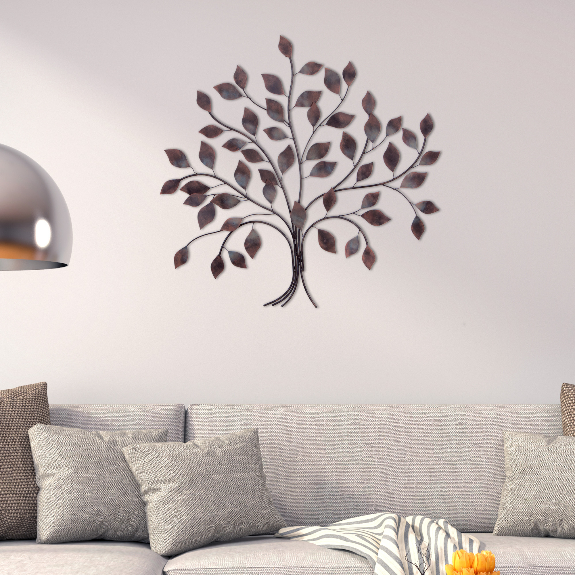 Patton Wall Decor Bronze Tree Branch Decorative Metal Wall Décor With Latest Tree Wall Decor (Gallery 9 of 20)