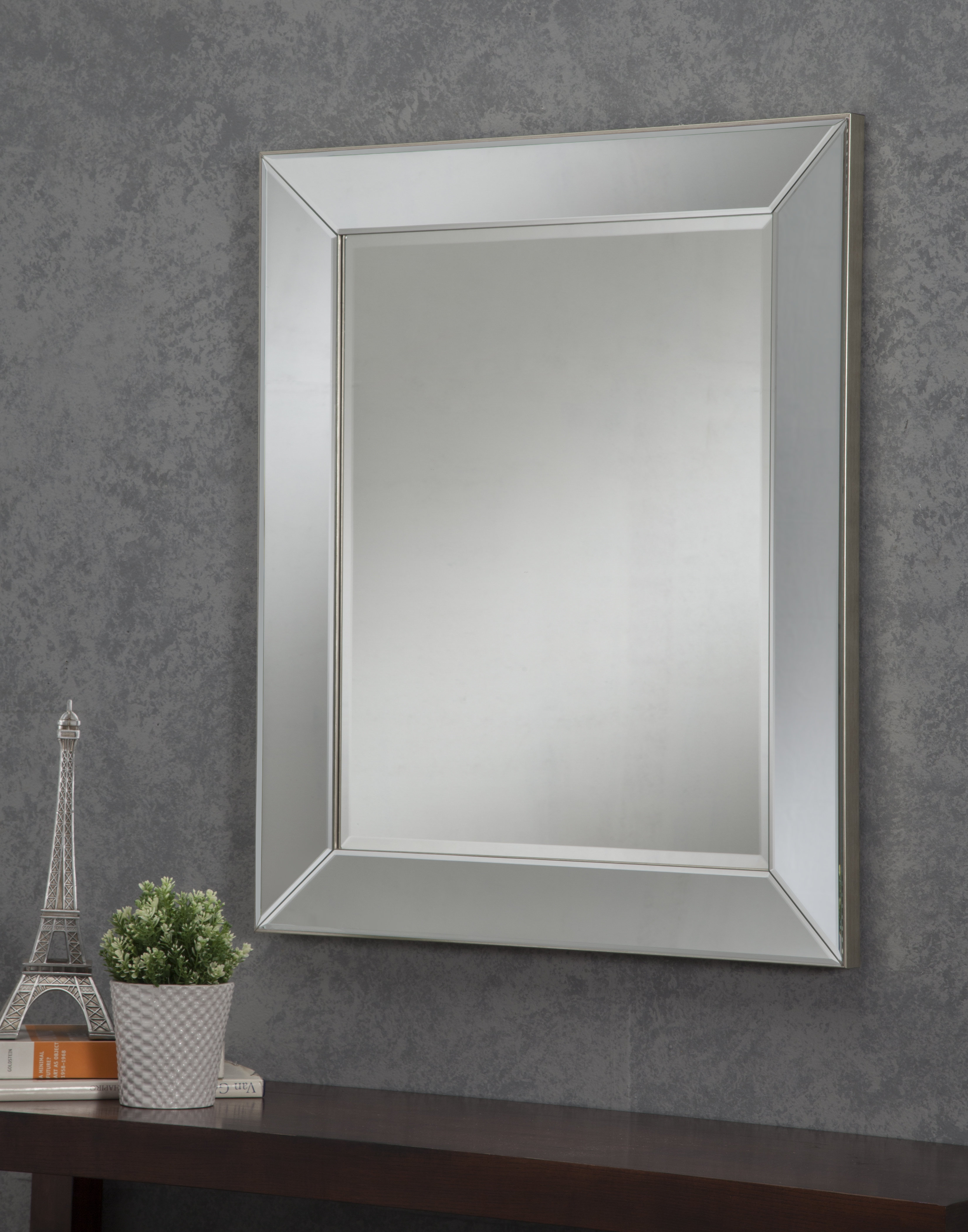 Pennsburg Rectangle Wall Mirror intended for Popular Nightstand Mirror
