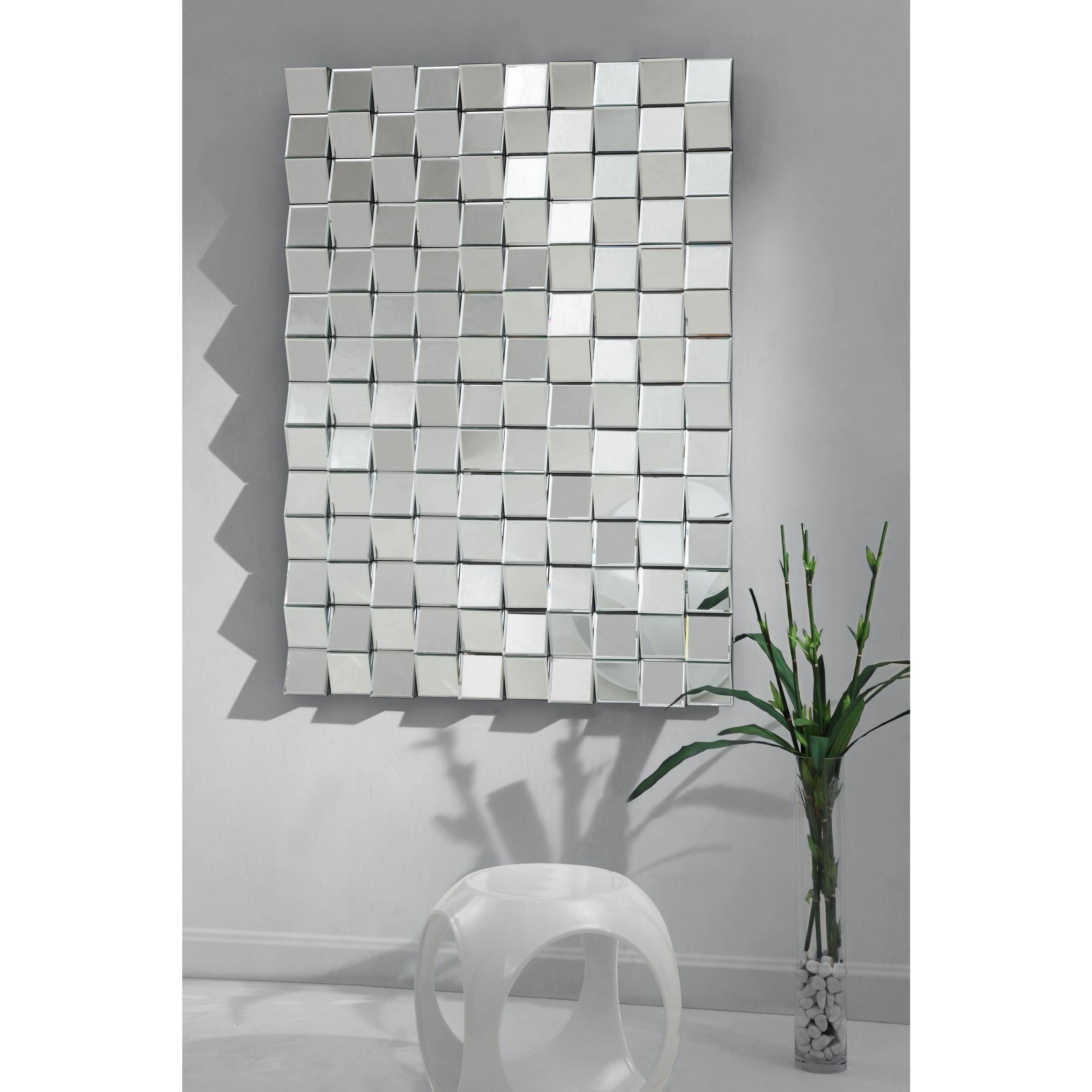 Pennsburg Rectangle Wall Mirror Throughout Most Up To Date Featuring A Stunning Checkerboard Motif, This Remarkable Wall Mirror (View 13 of 20)