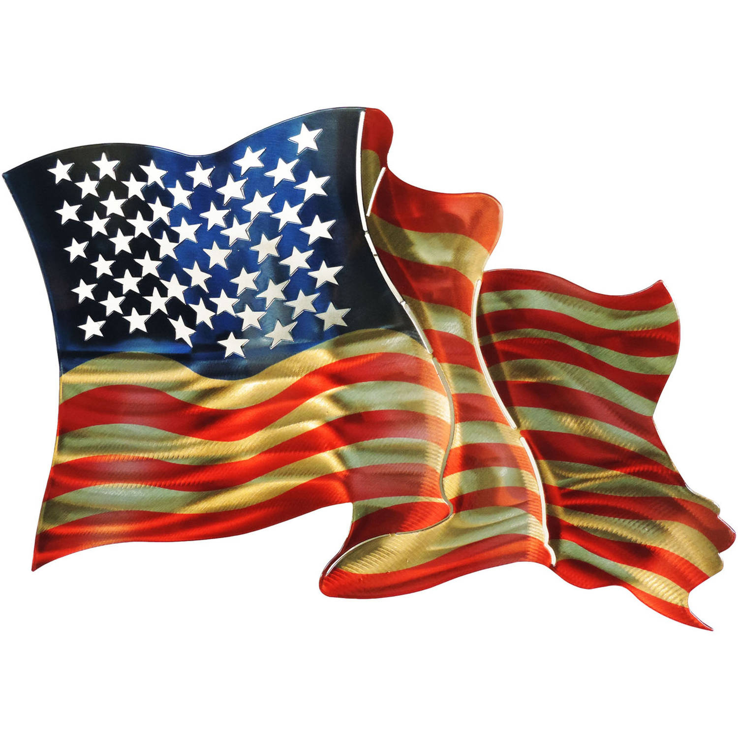 Popular American Flag 3d Wall Art Metal Wall Artnext Innovations With American Flag 3d Wall Decor (View 3 of 20)