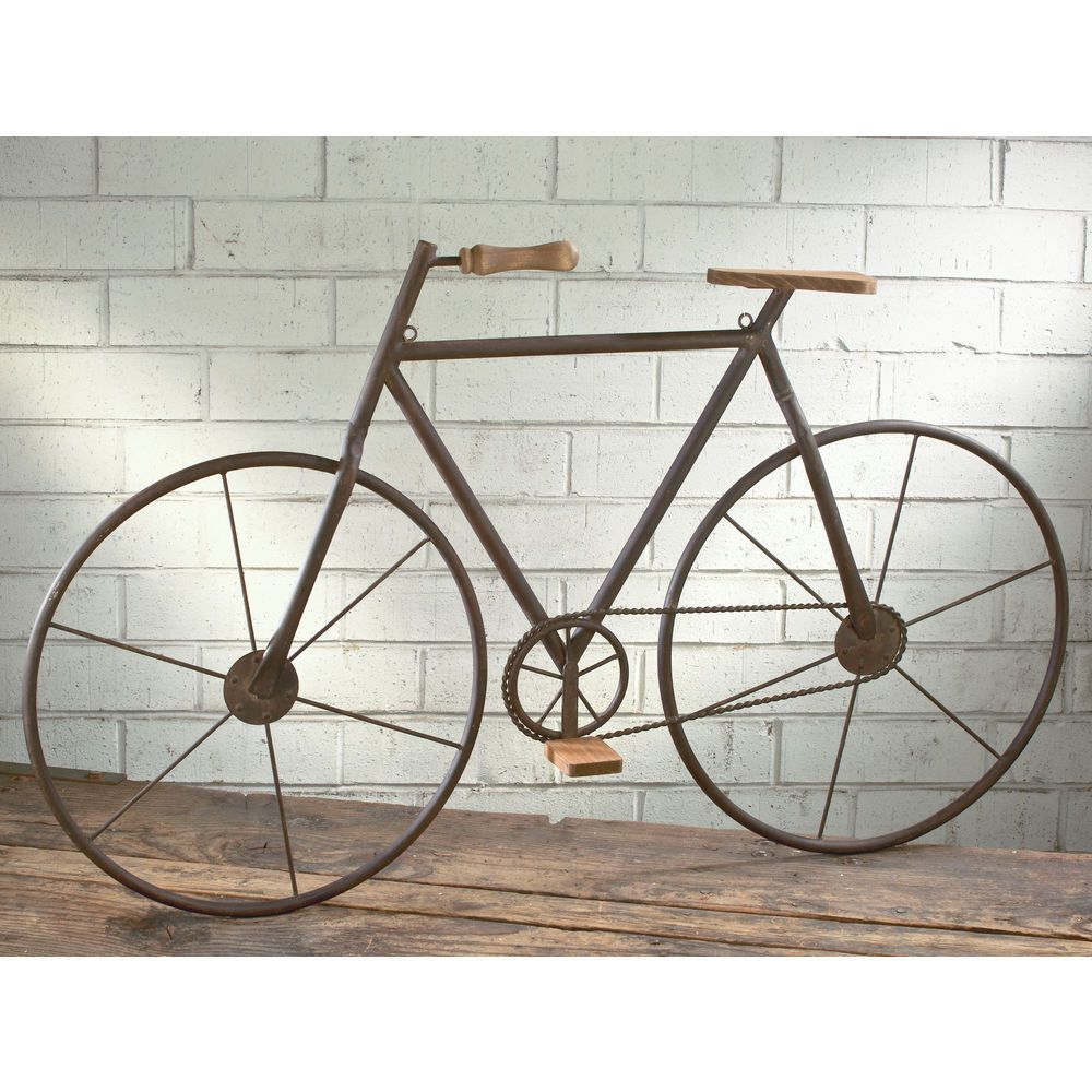 Popular Bike Wall Decor Throughout Tripar Metal/wood Bicycle Wall Art In (View 13 of 20)