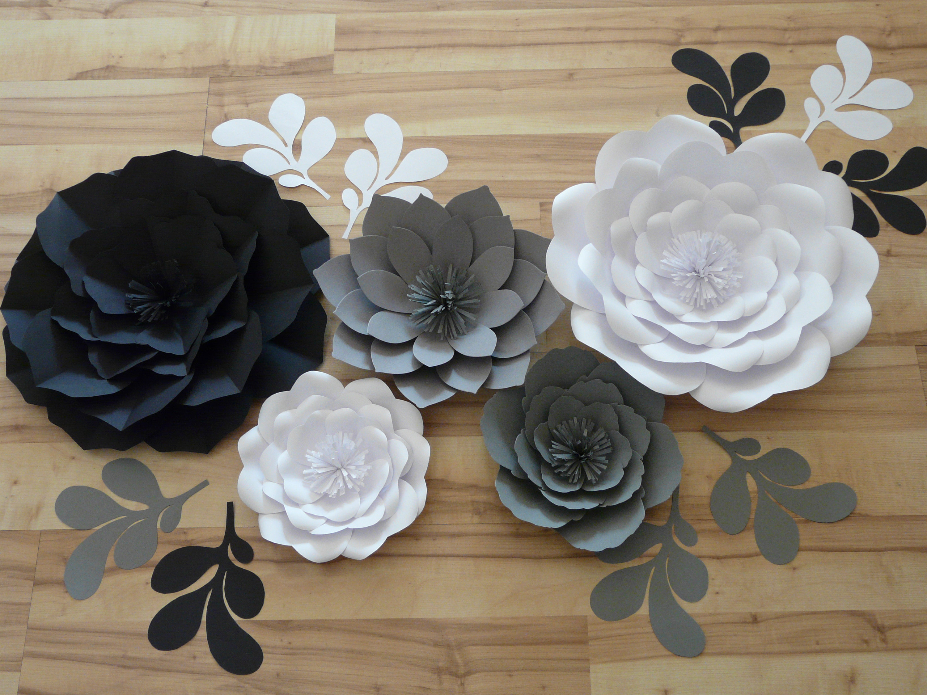 Popular Diy Paper Flowers Wedding Decoration Background Wall Décor (View 5 of 20)