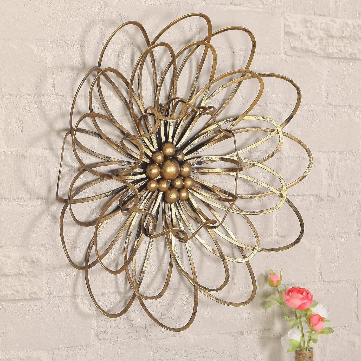 Popular Flower Urban Design Metal Wall Decor For Shop Flower Urban Design Metal Wall Decor – Free Shipping Today (View 14 of 20)