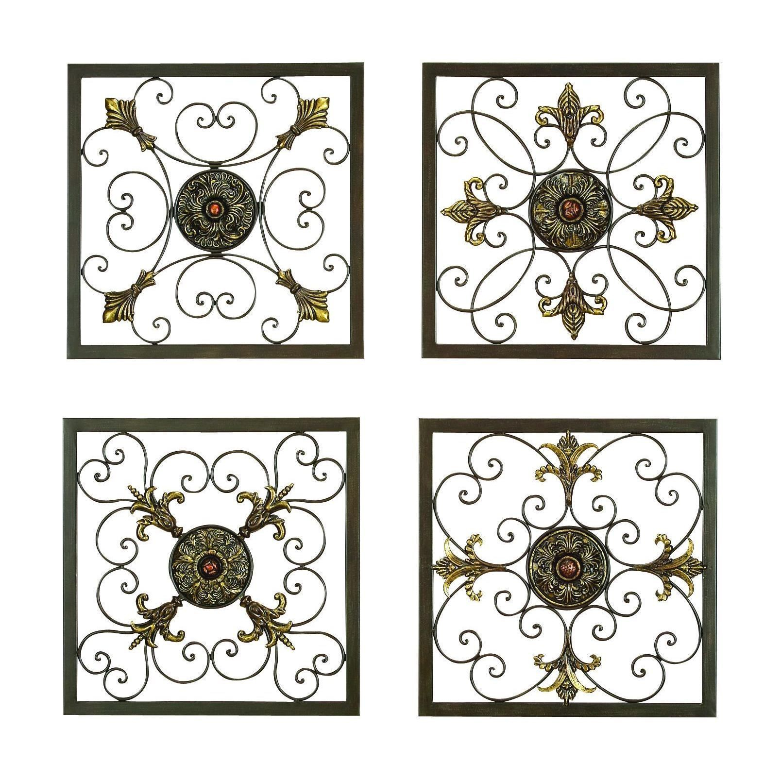 Popular Ornate Scroll Wall Decor Throughout These Gorgeous Square Wall Plaques Adds A Distinctive Touch Of (View 13 of 20)