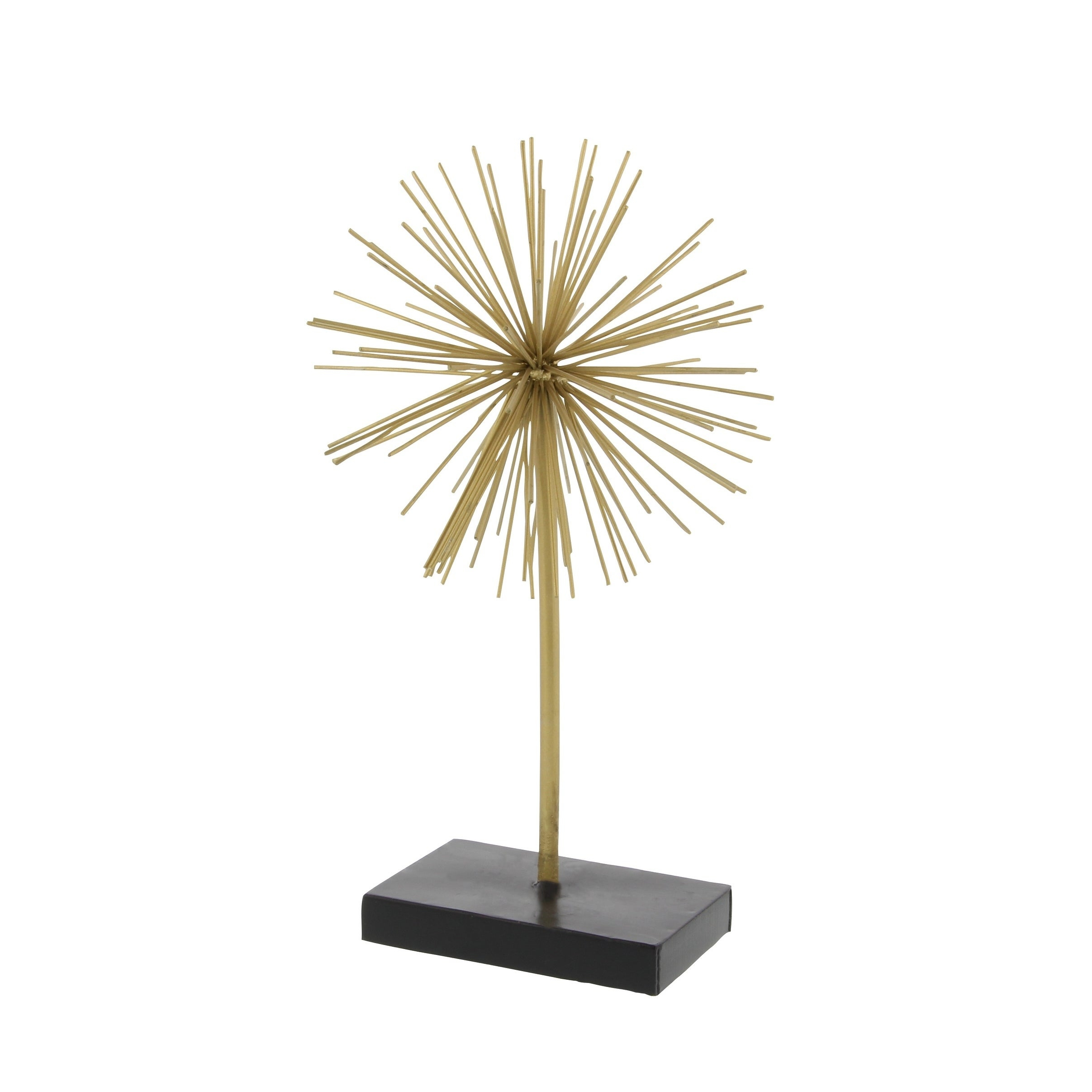 Popular Set Of 3 Contemporary 6, 9, And 11 Inch Gold Tin Starburst Sculptures Throughout Shop Tall Contemporary Style 3D Round Gold Metal Starburst (View 8 of 20)