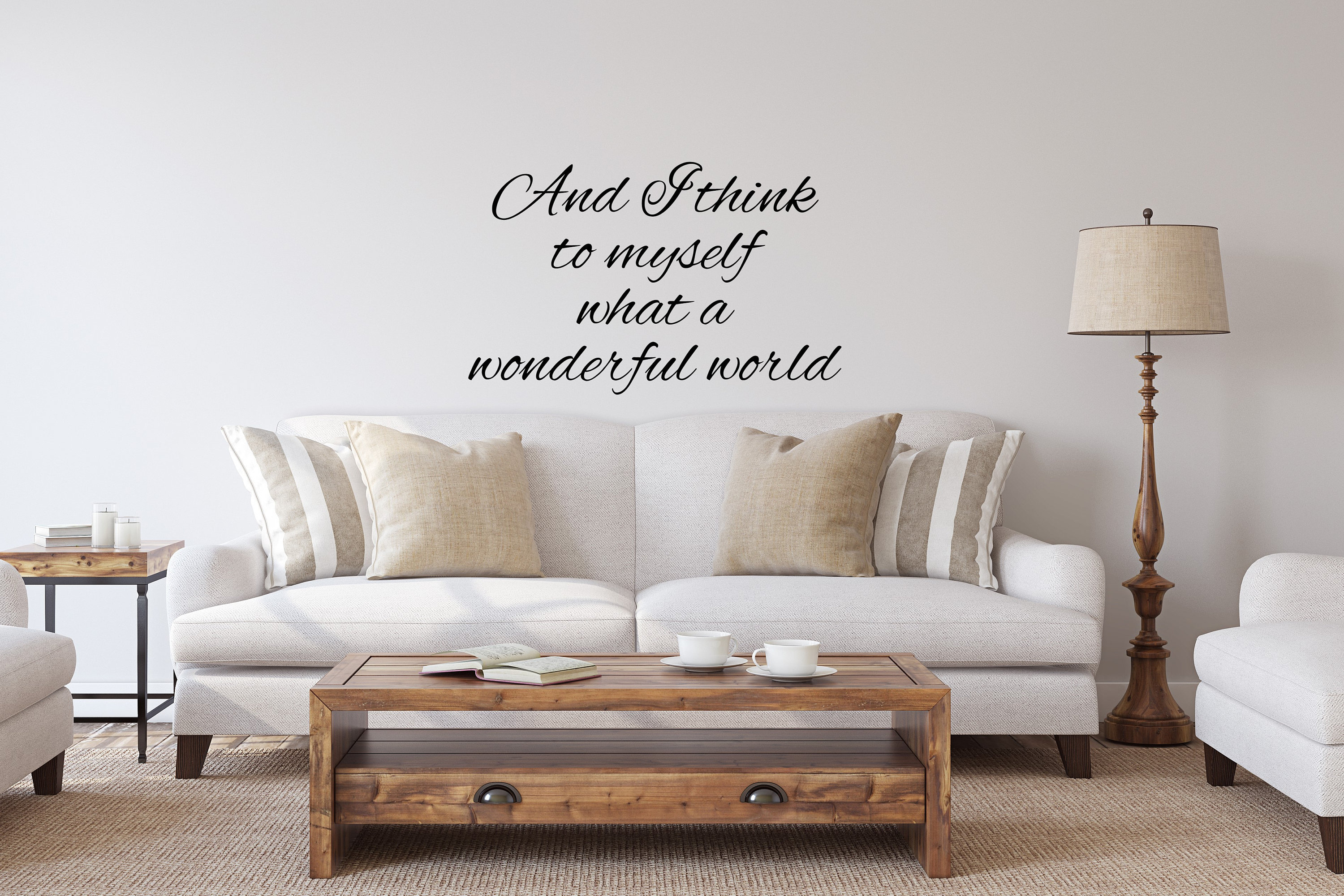Preferred And I Think To Myself What A Wonderful World Wall Art Metal
