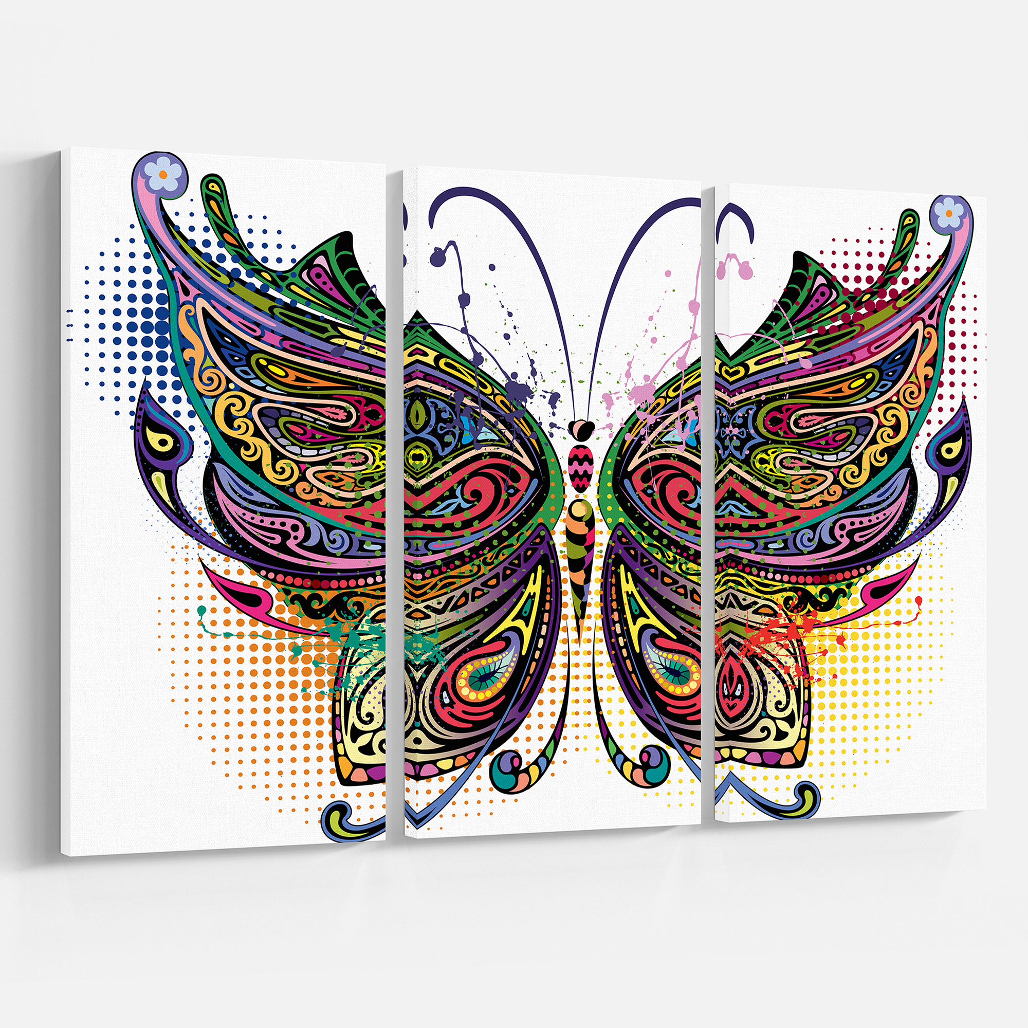 Preferred Design Art – Variegated Butterfly (View 11 of 20)
