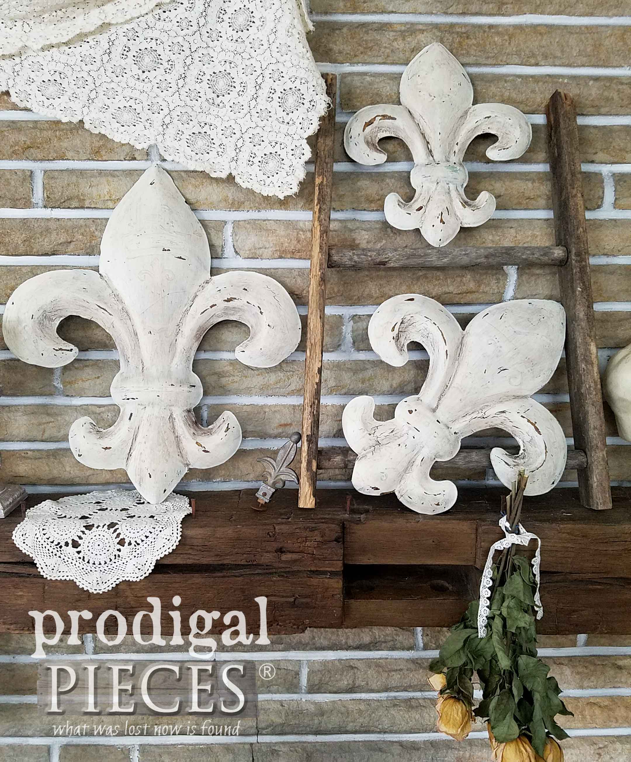 Preferred Fleur De Lis Wall Art ~ From Thrifted To Fabulous – Prodigal Pieces With Regard To 2 Piece Metal Wall Decor Sets By Fleur De Lis Living (Gallery 11 of 20)