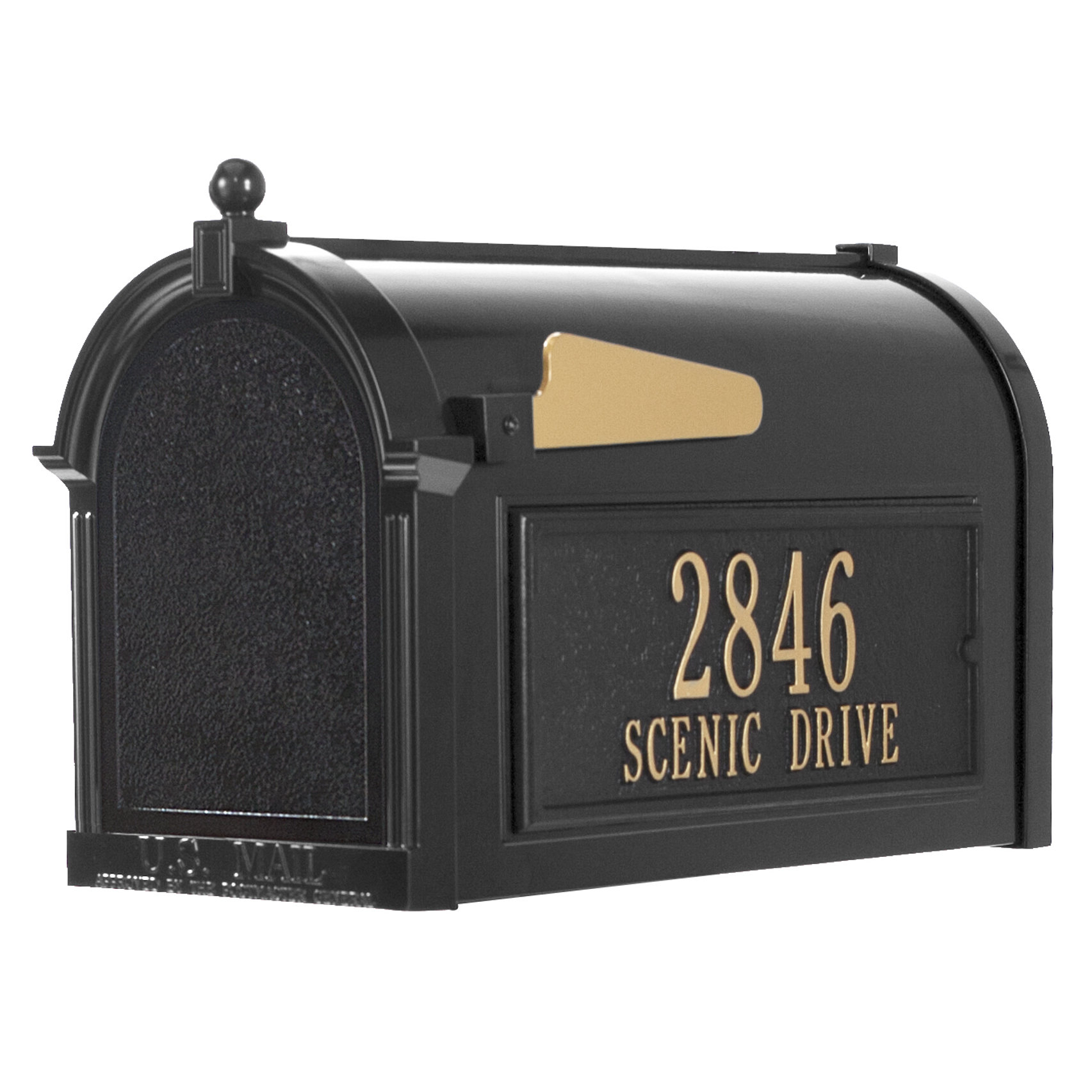 Preferred Lacordaire Wall Mounted Mailbox For Whitehall Products Post Mounted Mailbox (Gallery 14 of 20)