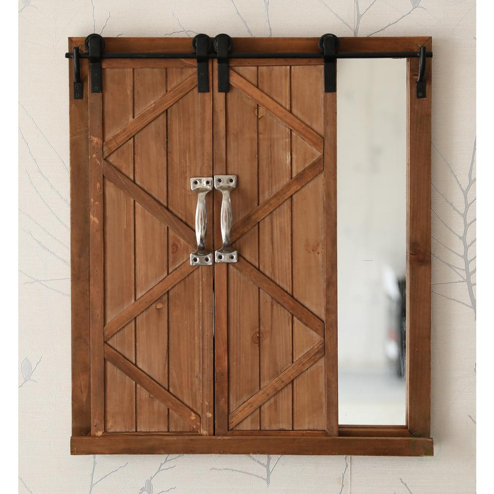 Preferred Old Rustic Barn Window Frame For Vintiquewise Decorative Mirror With Sliding Barn Style Wood Rustic (View 15 of 20)