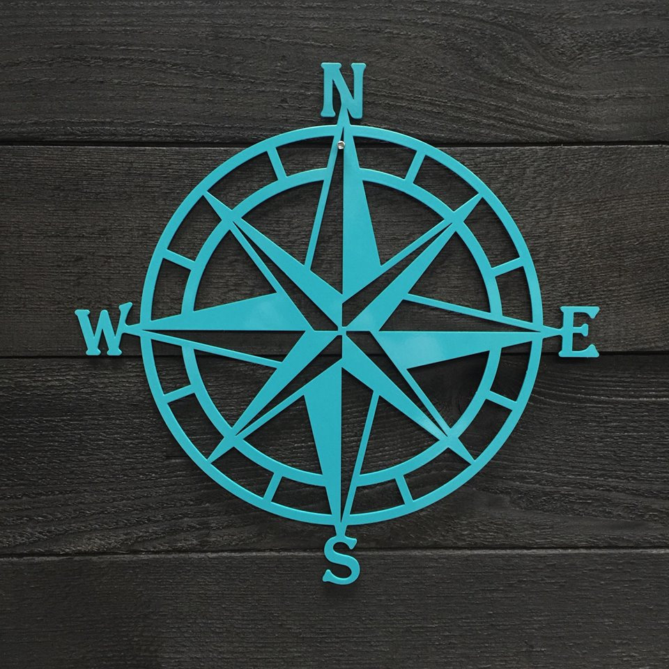 Preferred Outdoor Metal Wall Compass For Textured Navy: Nautical Compass – Nautical Wall Art – Metal Wall Art (View 17 of 20)