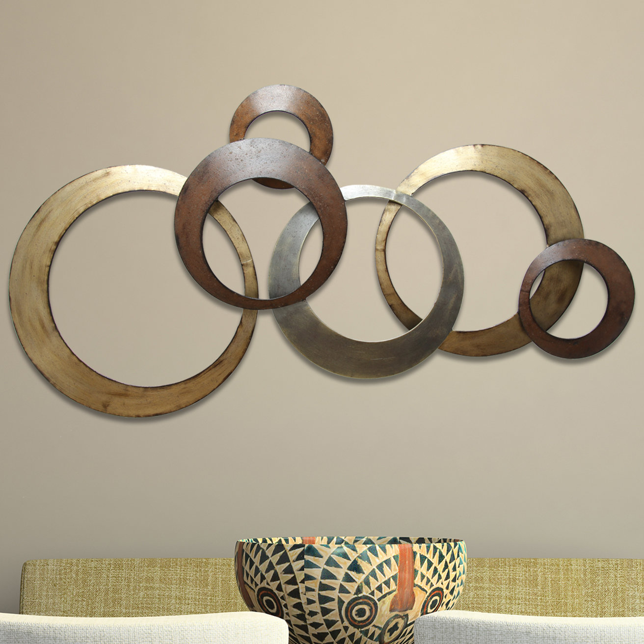 Preferred Rings Wall Decor Pertaining To Stratton Home Decor Rings Wall Décor & Reviews (View 4 of 20)