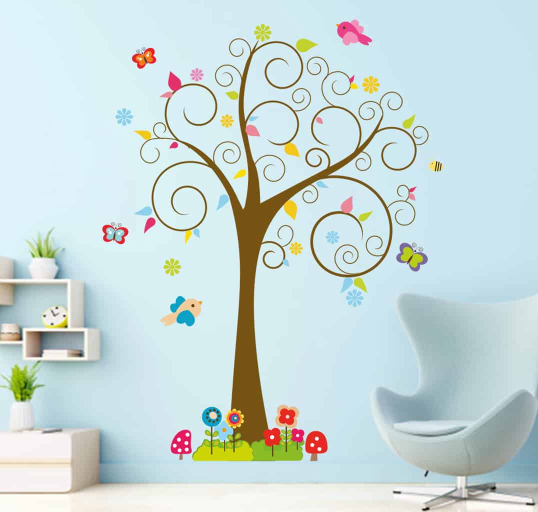 Preferred Tree Wall Decor With Regard To This Cute Bird Swirl Tree Wall Decal Is Perfect For Your Kids Room! (Gallery 20 of 20)