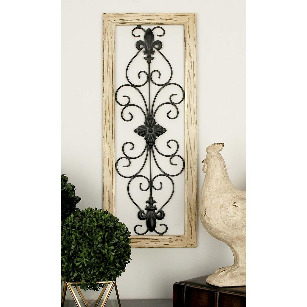 Preferred Wood And Metal Multi Colored French Inspired Fleur De Lis And Inside 2 Piece Metal Wall Decor Sets By Fleur De Lis Living (Gallery 1 of 20)