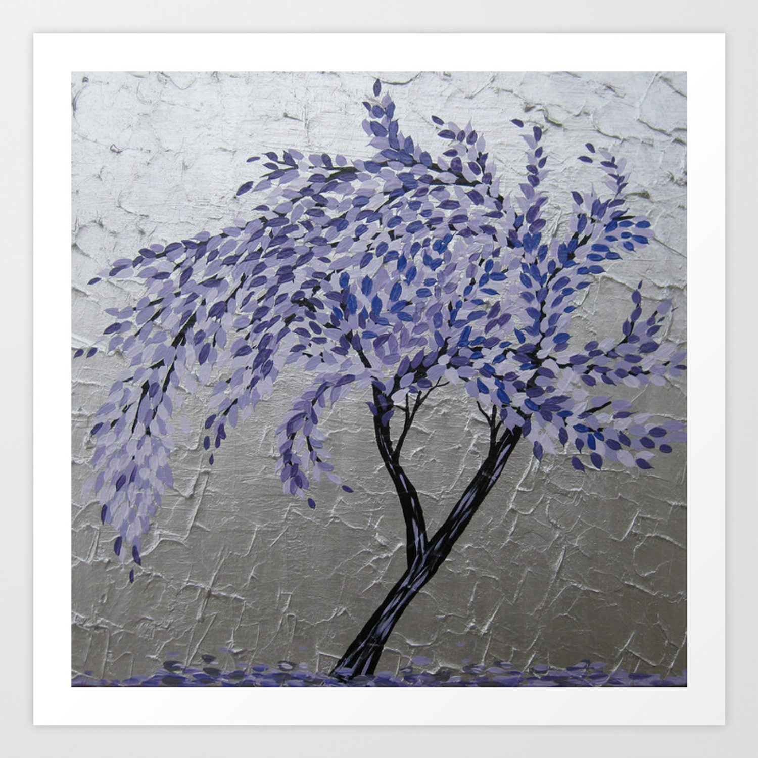Purple Windswept Tree Art Printcathyjacobs (View 9 of 20)