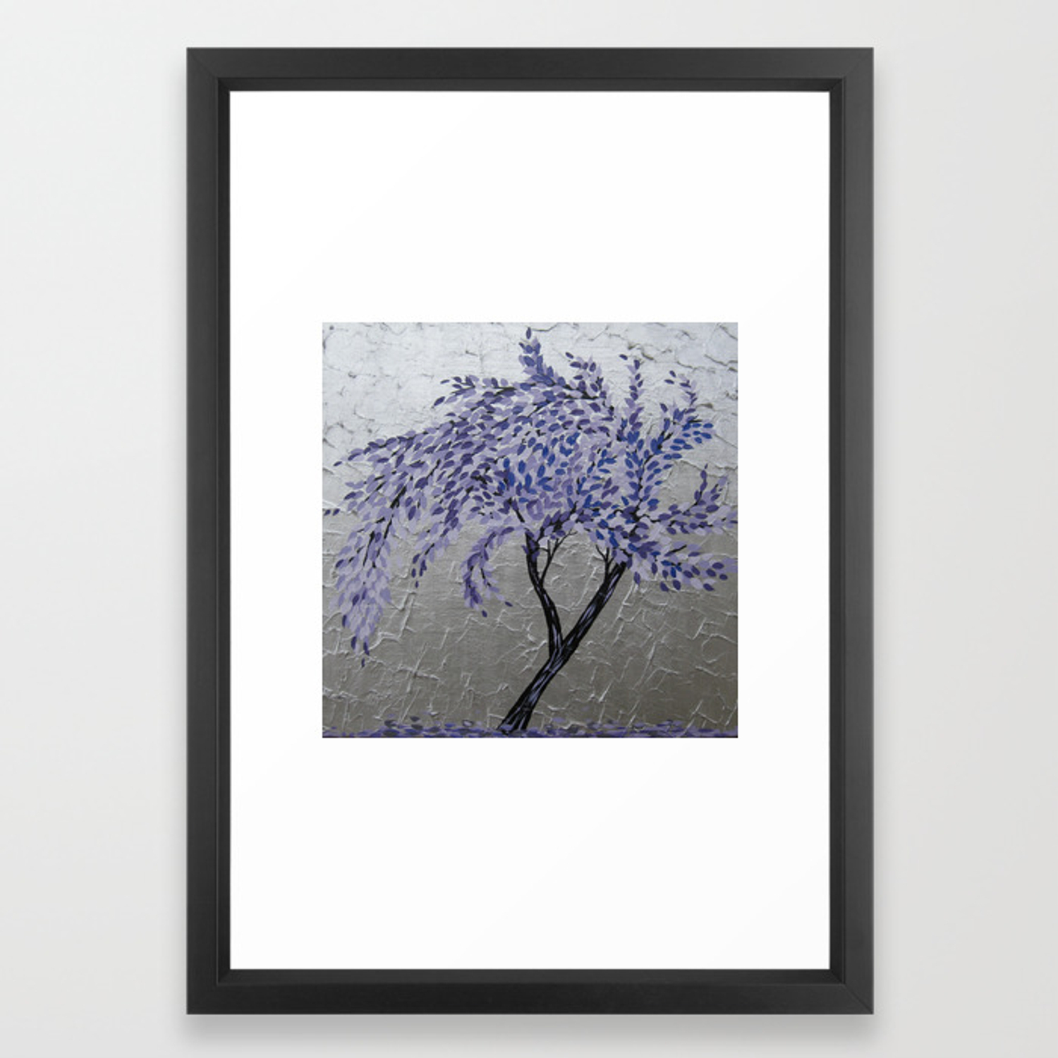 Purple Windswept Tree Framed Art Printcathyjacobs (View 15 of 20)