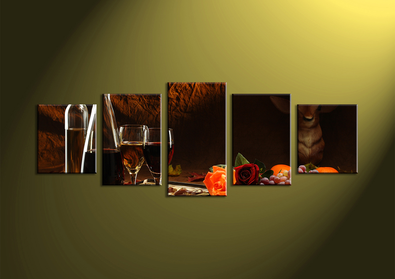 Recent 4 Piece Metal Wall Decor Sets Pertaining To Dining Room Ideas Wine Wall Art Decorating Storage Decals – Dining (View 16 of 20)
