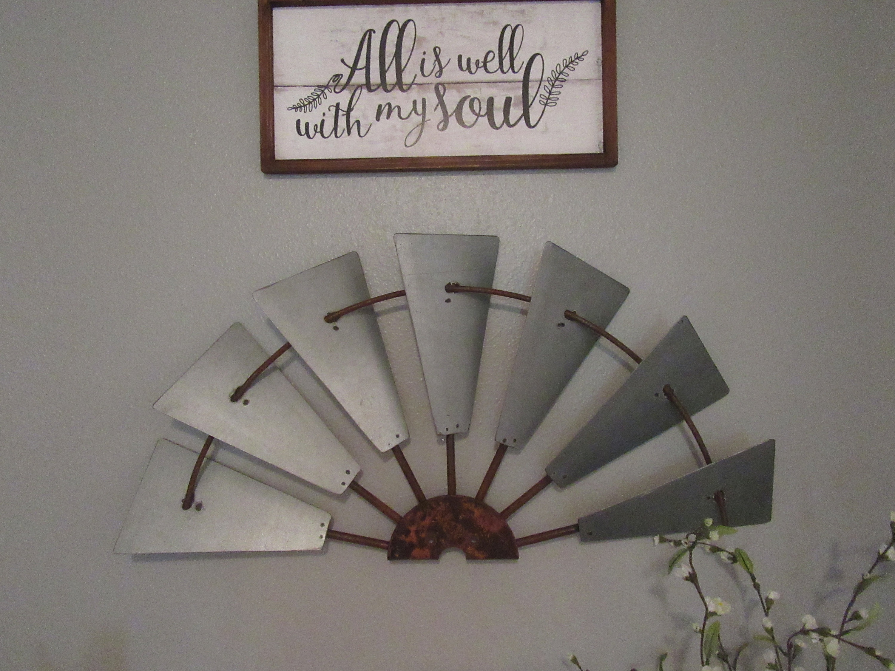 Recent Personalized Distressed Vintage Look Kitchen Metal Sign Wall Decor With 30 Galvanize Half Windmill Wall Decor Custom Metal (View 10 of 20)