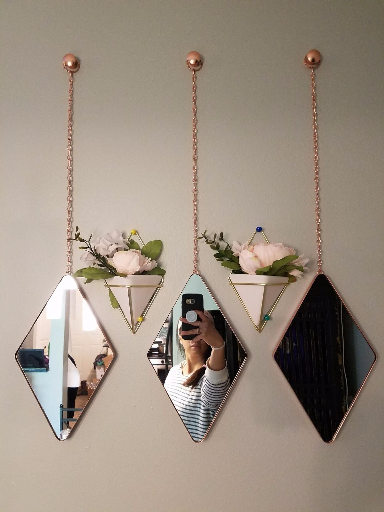 Recent Trigg Ceramic Planter Wall Decor For Amazonsmile: Umbra Trigg Hanging Planter Vase & Geometric Wall Decor (Gallery 2 of 20)