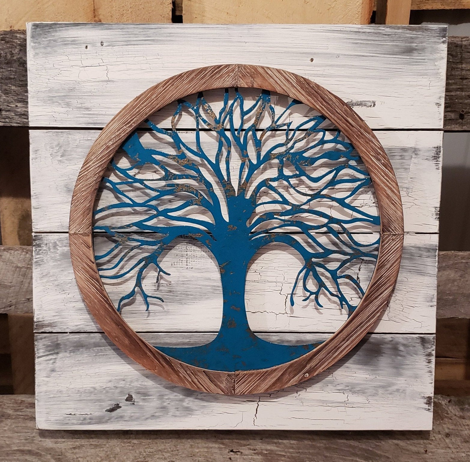 Reclaimed Wood Tree Of Life Wall Art Metal Wall Art Metal (Gallery 9 of 20)