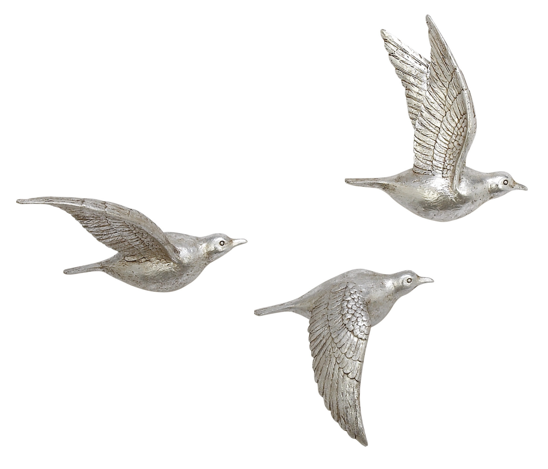 Reeds Migration Wall Decor Sets (Set Of 3) In Popular Charlton Home 3 Piece Polystone Bird Wall Décor Set & Reviews (Gallery 3 of 20)