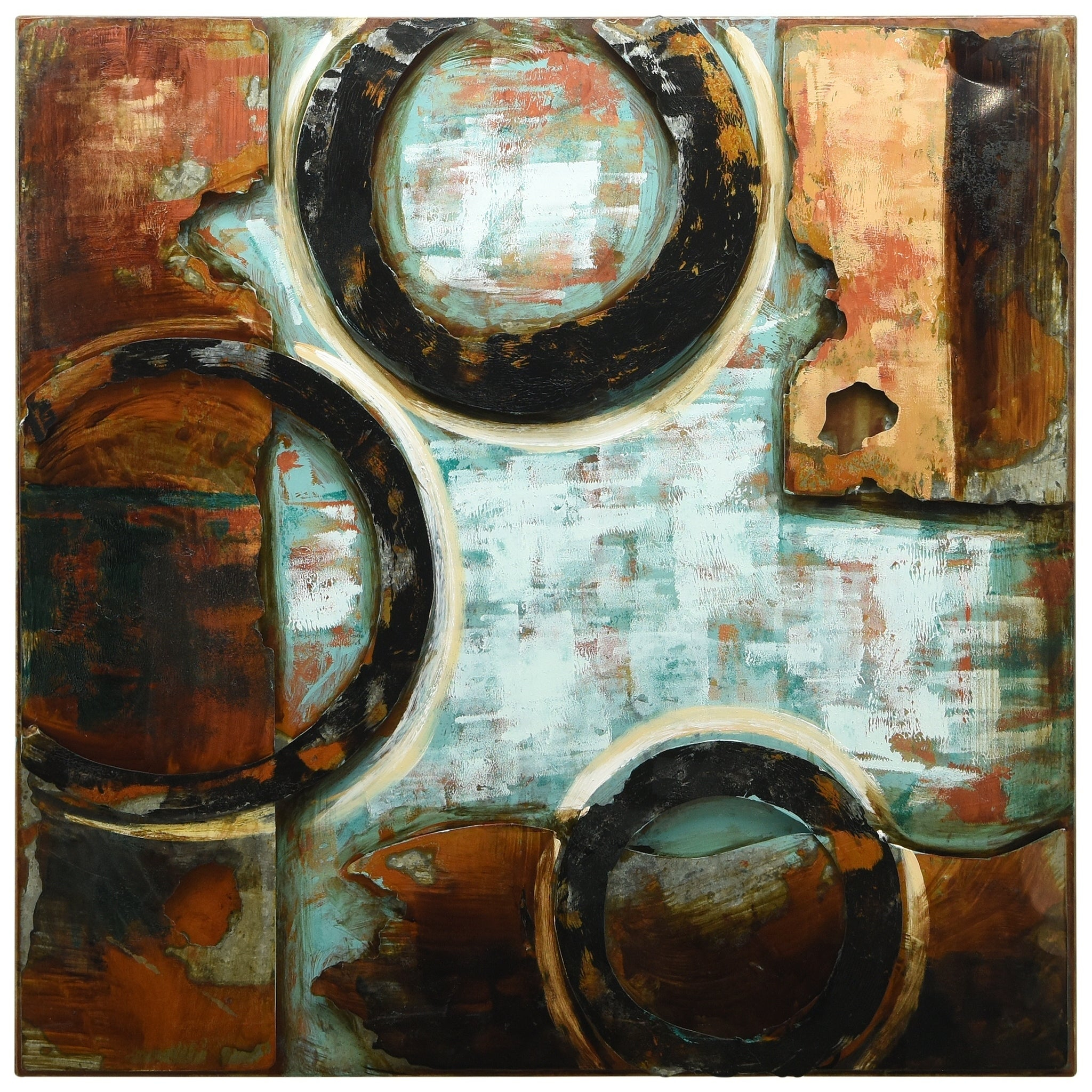 """Revolutions 2"""" Mixed Media Iron Hand Painted Dimensional Wall Décor Regarding Most Current Mixed Media Iron Hand Painted Dimensional Wall Decor (View 5 of 20)"""