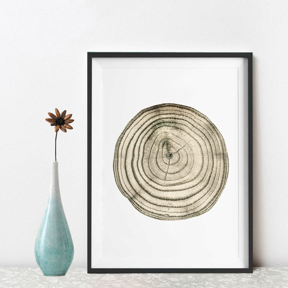 Rings Wall Decor In Most Popular Tree Stump Inspiration Tree Rings Wall Art Wood Stump Art Poster (View 13 of 20)