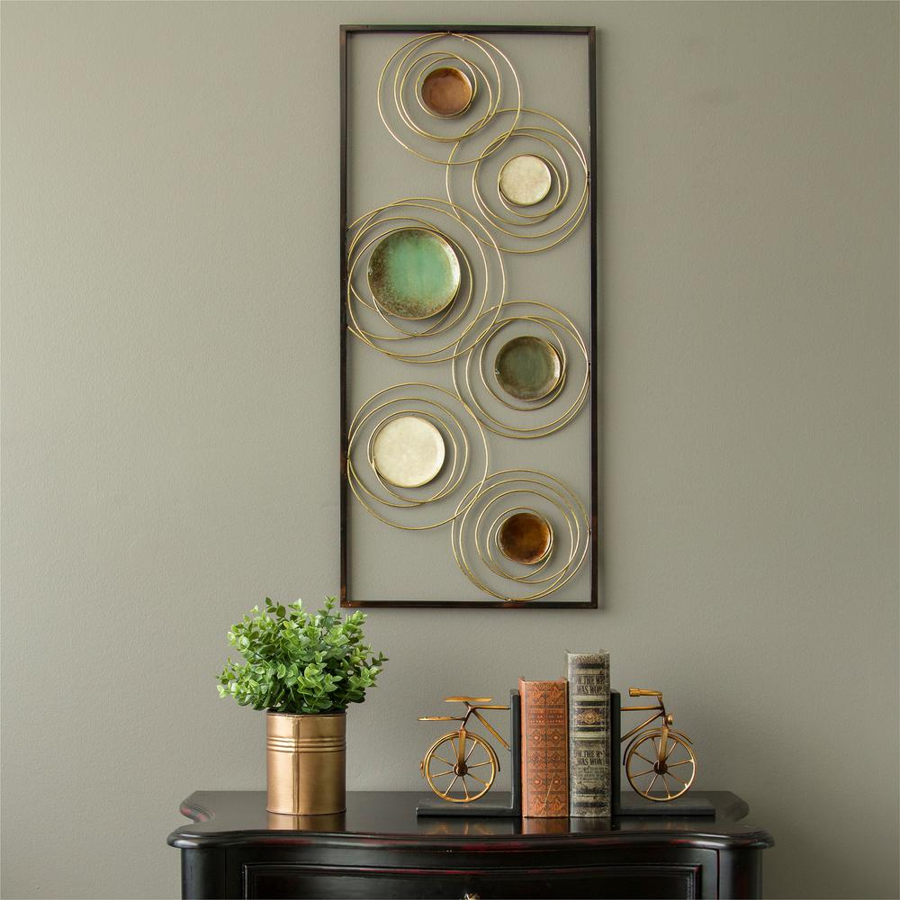 Rings Wall Decor In Well Known Stratton Home Decor Geometric Metal Rings Panel Wall Decor S (View 11 of 20)