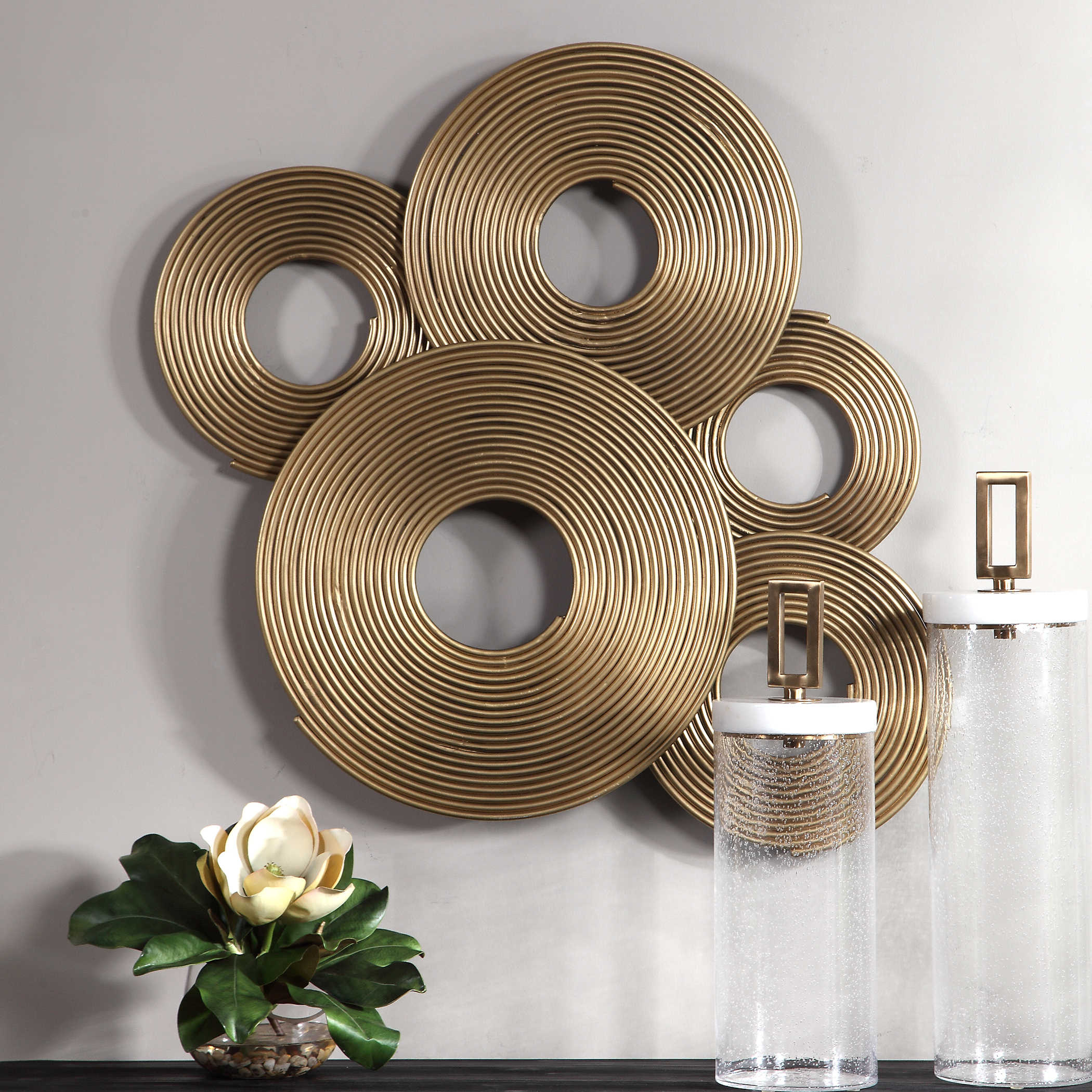 Rings Wall Decor With Well Known Uttermost Ahmet Gold Rings Wall Decor (View 7 of 20)