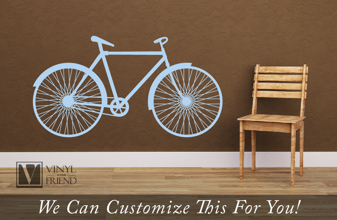 Road Bicycle Retro Vintage Wall Vinyl Decal Graphic A Sports Wall Decor Throughout Best And Newest Bike Wall Decor (View 15 of 20)