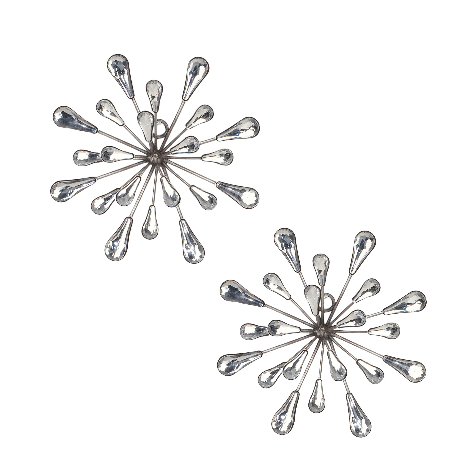 Set Of 3 Contemporary 6, 9, And 11 Inch Gold Tin Starburst Sculptures Pertaining To Most Current 2 Piece Starburst Wall Décor Set & Reviews (View 14 of 20)