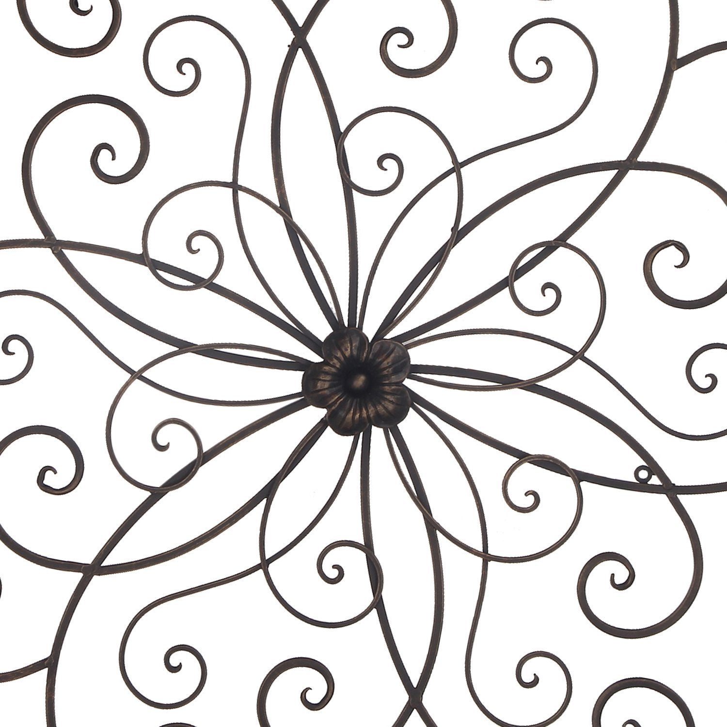 Shop Adeco Bronze Flower Urban Design Metal Wall Decor For Nature Throughout Most Popular Flower Urban Design Metal Wall Decor (Gallery 17 of 20)