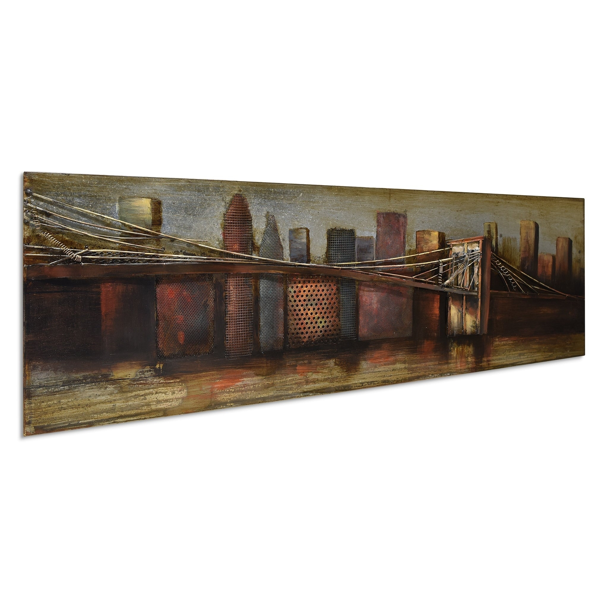 "Shop ""bridge To The City 1"" Mixed Media Iron Hand Painted With Trendy ""bridge To The City"" Mixed Media Iron Hand Painted Dimensional Wall Decor (View 1 of 20)"