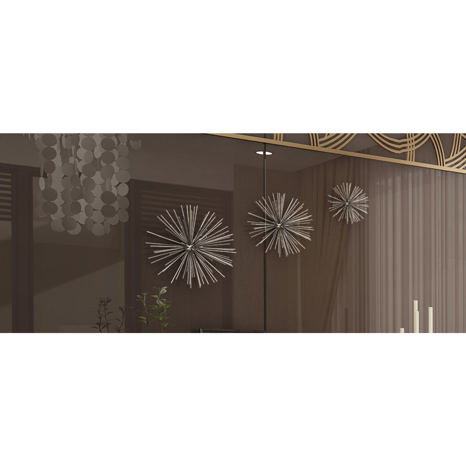Shop Contemporary Style 3D Round Silver Metal Starburst Wall Decor In Newest Set Of 3 Contemporary 6, 9, And 11 Inch Gold Tin Starburst Sculptures (Gallery 16 of 20)