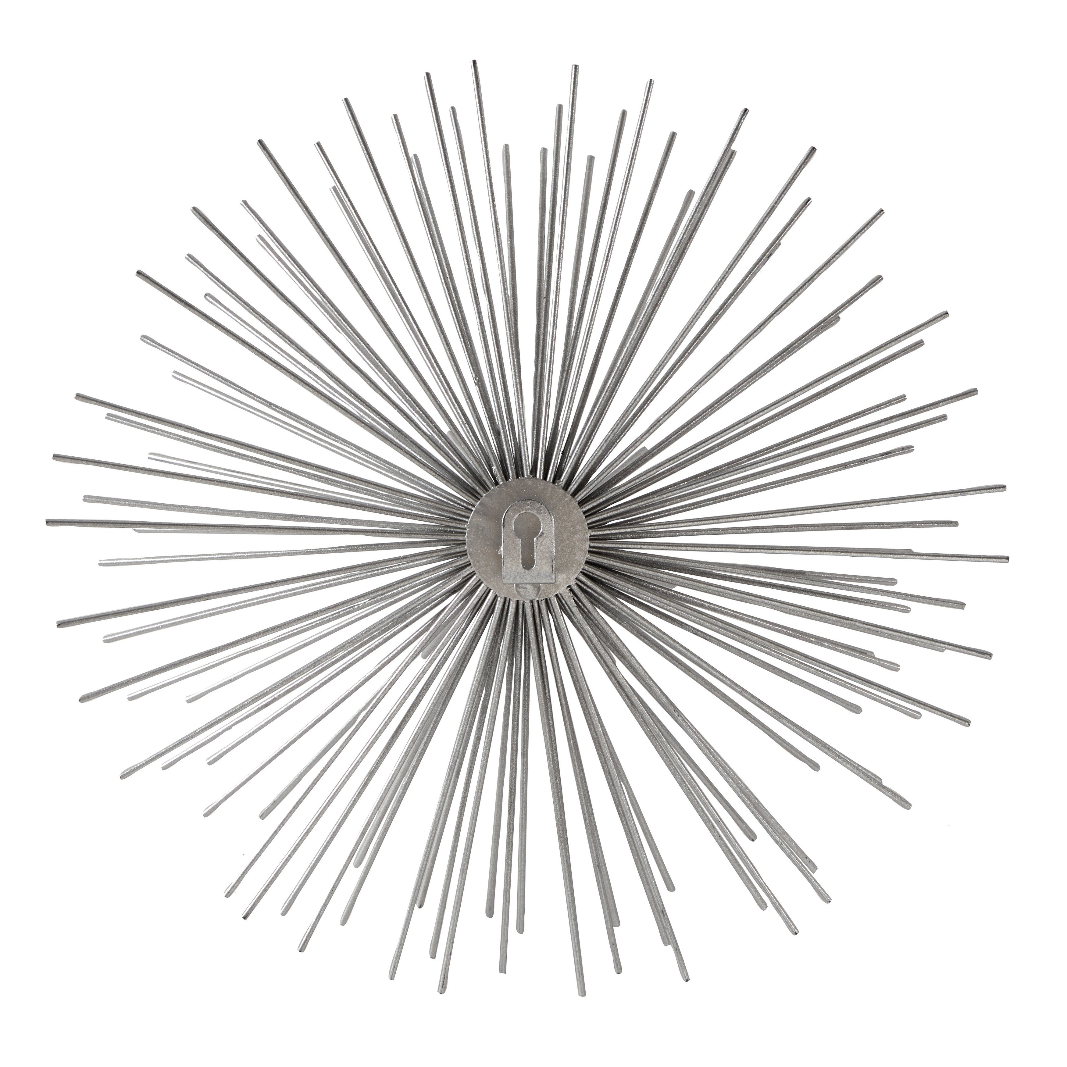 Shop Contemporary Style 3D Round Silver Metal Starburst Wall Decor Within Newest Set Of 3 Contemporary 6, 9, And 11 Inch Gold Tin Starburst Sculptures (Gallery 11 of 20)