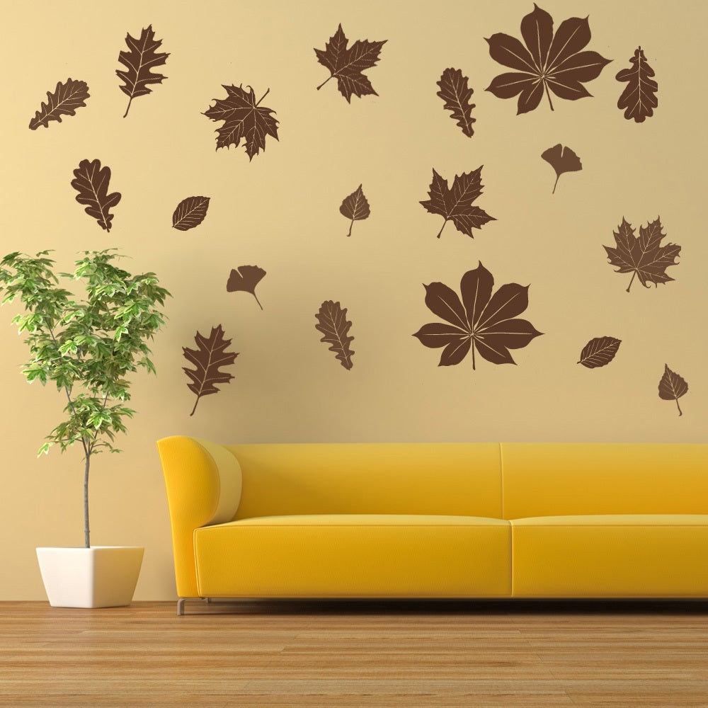 Shop Falling Leaves Wall Decal Vinyl Art Home Decor – On Sale – Free With Regard To Most Popular Flowing Leaves Wall Decor (View 13 of 20)