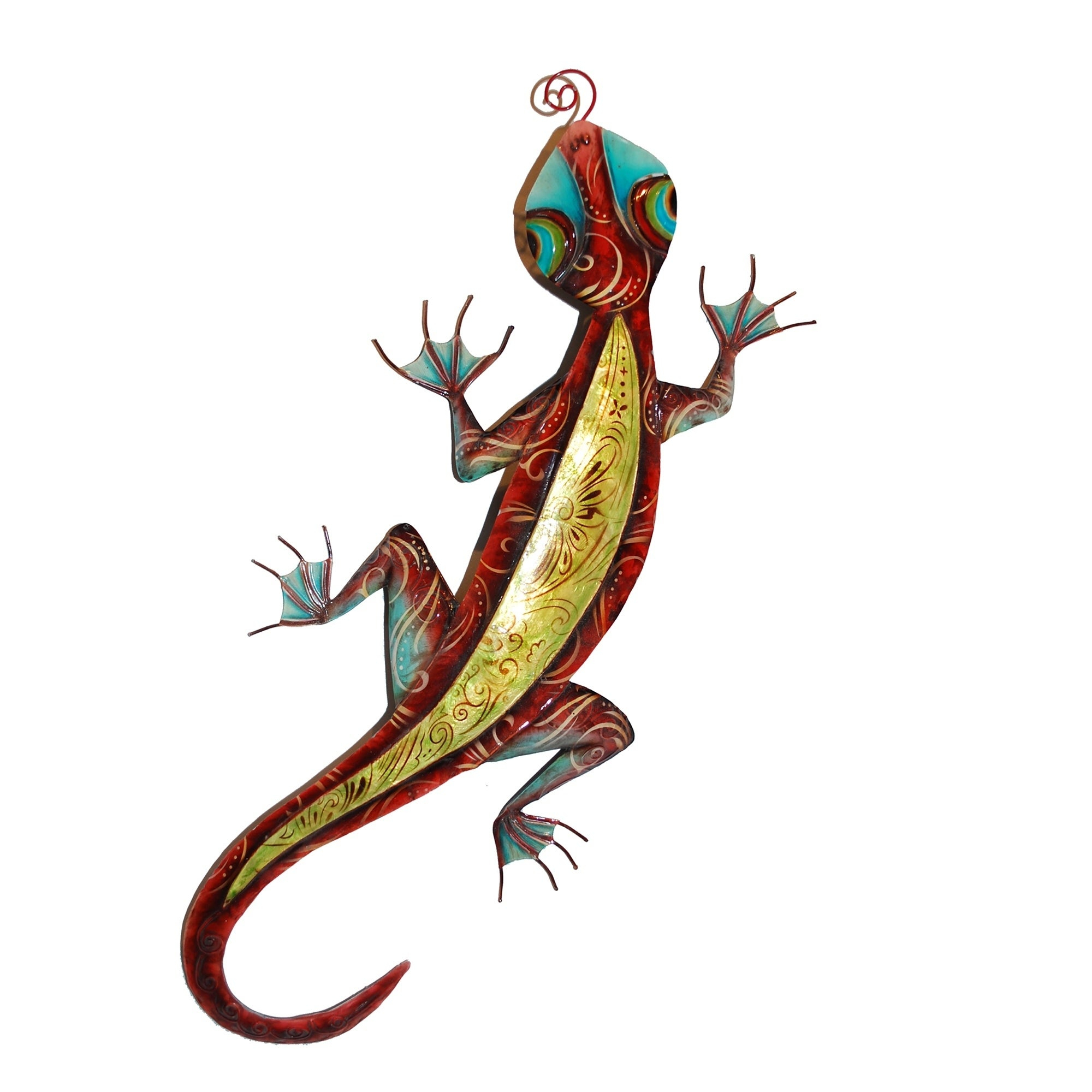 Shop Handmade Gecko Wall Decor Red And Yellow – Free Shipping On In Current Gecko Wall Decor (View 15 of 20)