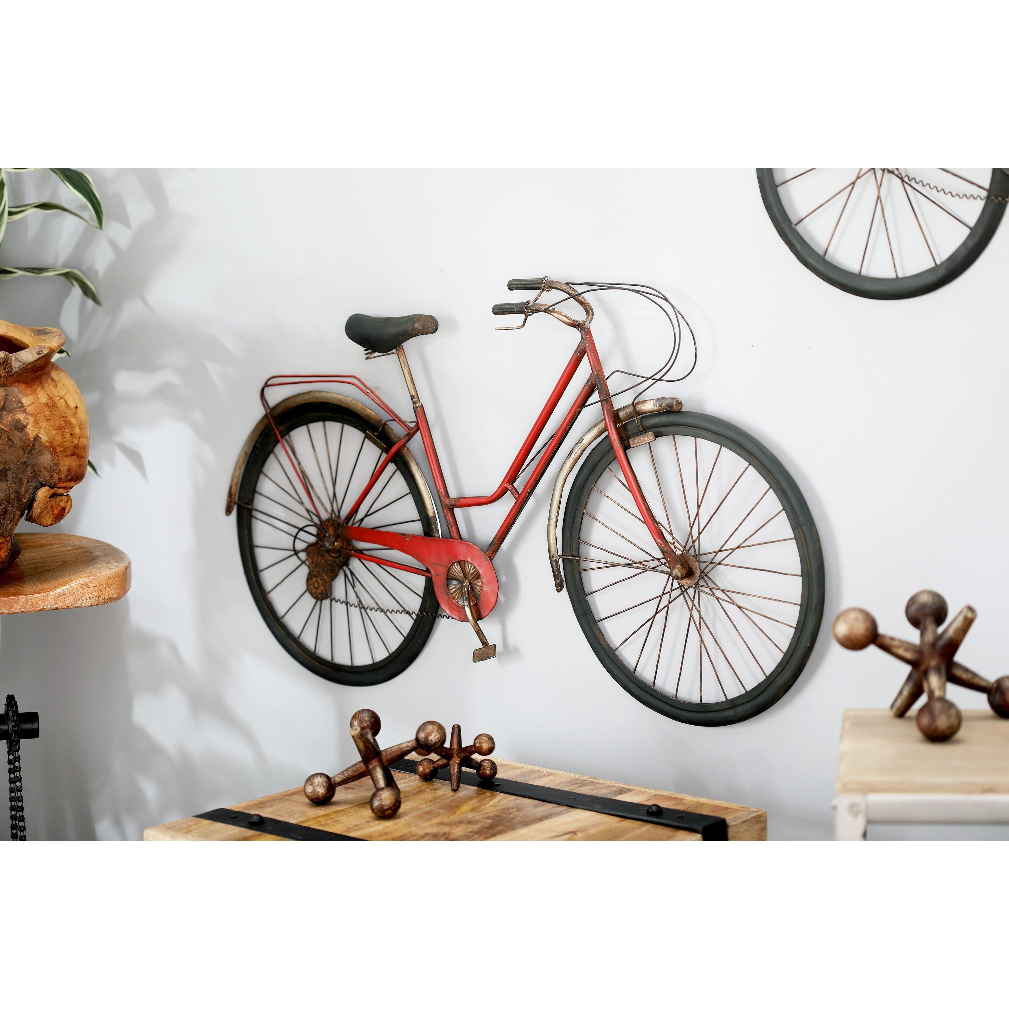 Shop Modern Iron Red Bicycle Wall Decor – Free Shipping Today Throughout Most Recently Released Bike Wall Decor (Gallery 16 of 20)